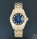 Rolex  Rolex Pearlmaster Yellow Gold  Blue Diamond Dial 69318