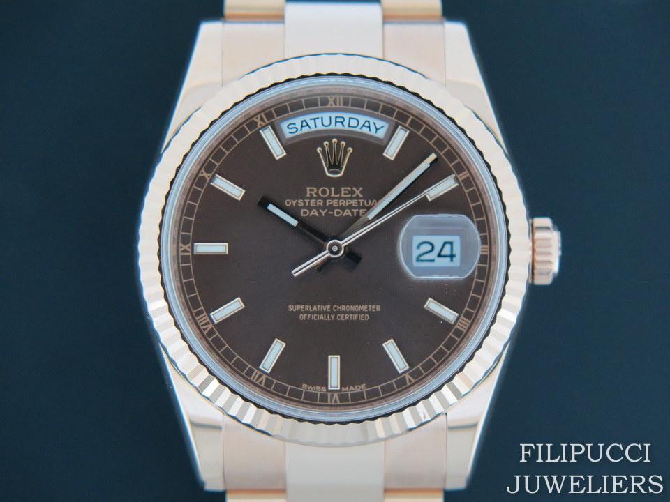 Rolex  Rolex Day-Date Everose Chocolate Dial 118235