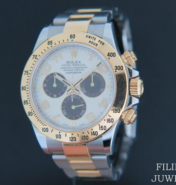 Rolex  Daytona Gold/Steel 116523 Panda Racing Dial