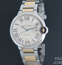Cartier Ballon Bleu Gold/Steel 42MM  W69009Z3 Automatic
