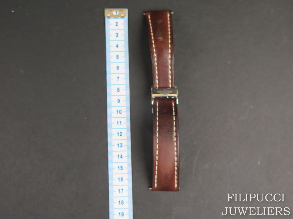 Breitling Breitling Brown Calfskin Strap 24-20 mm with folding clasp