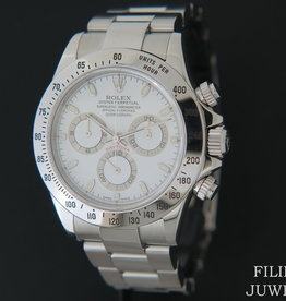 Rolex  Daytona White Dial 116520  F-Serial