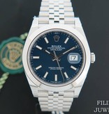 Rolex  Rolex Datejust 41 Blue Dial NEW 126300 Full Stickers
