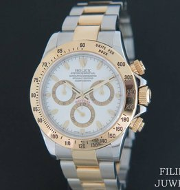 Rolex  Daytona Gold/Steel 116523 White Dial