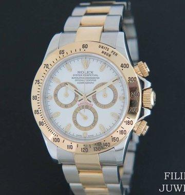 Rolex  Daytona Gold/Steel 116523 White Dial