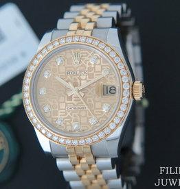 Rolex  Datejust Gold/Steel Diamond Dial and Diamond Bezel 178383