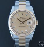 Rolex  Rolex Datejust Gold/Steel Champagne Diamond Dial 116203