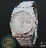 Rolex  Rolex Datejust Silver Diamond Dial 116234 NEW