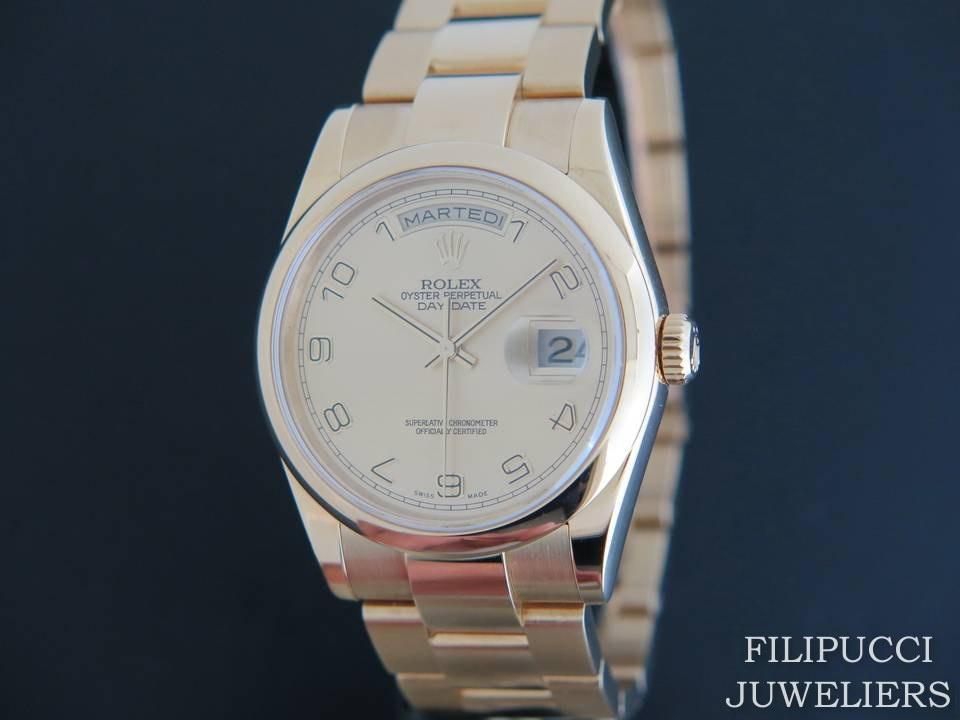 Rolex  Rolex Day-Date Yellow Gold 118208
