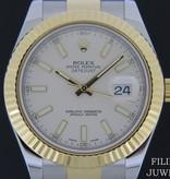 Rolex  Rolex Datejust II Gold/Steel Ivory Dial 116333