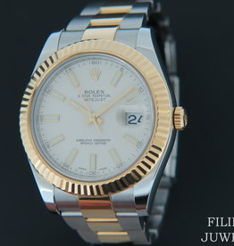 Rolex  Datejust II Gold/Steel Ivory Dial 116333