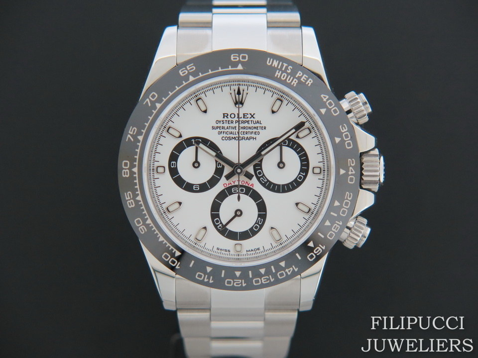 Rolex  Rolex Daytona 116500LN NEW White Dial Partial Stickers