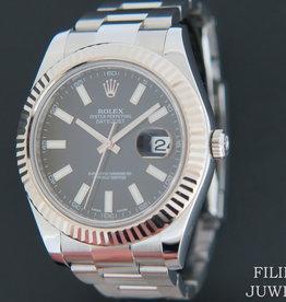Rolex  Datejust II Black  Dial 116334