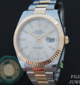 Rolex  Datejust 41 Gold/Steel NEW 126333 Silver Dial With Stickers