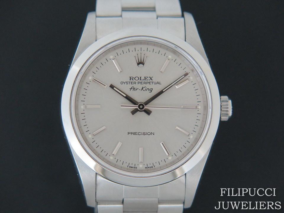 Rolex  Rolex Air-King Silver Dial 14000