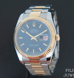 Rolex  Datejust Gold/Steel Blue Dial 116233