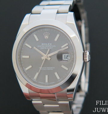 Rolex  Datejust 41 NEW 126300 Dark Rhodium