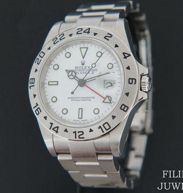 Rolex  Explorer II White Dial 16570  D-Serial NOS With Stickers