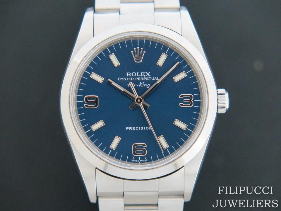 Rolex  Rolex Air-King Blue 3/6/9 Dial 14000