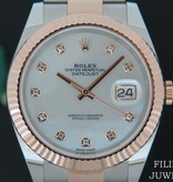 Rolex  Rolex Datejust 41 Everose/Steel MOP Diamond Dial 126331