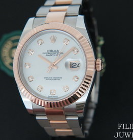 Rolex  Datejust 41 Everose/Steel MOP Diamond Dial 126331
