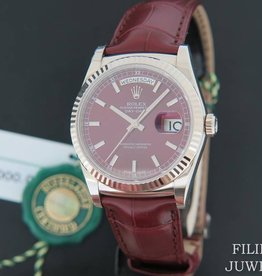 Rolex  Day-Date White Gold Cherry Dial  NEW 118139