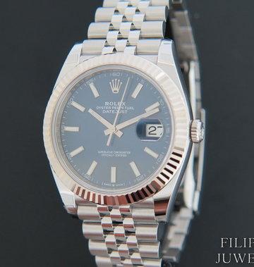 Rolex  Datejust 41 Blue Dial 126334 NEW