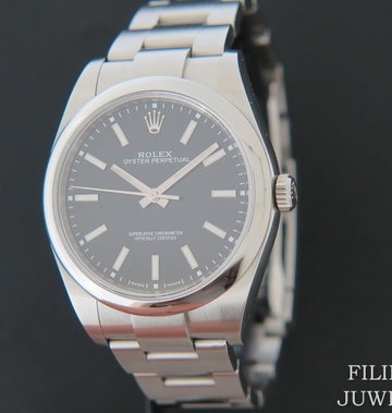 Rolex  Oyster Perpetual 39 Black Dial NEW 114300