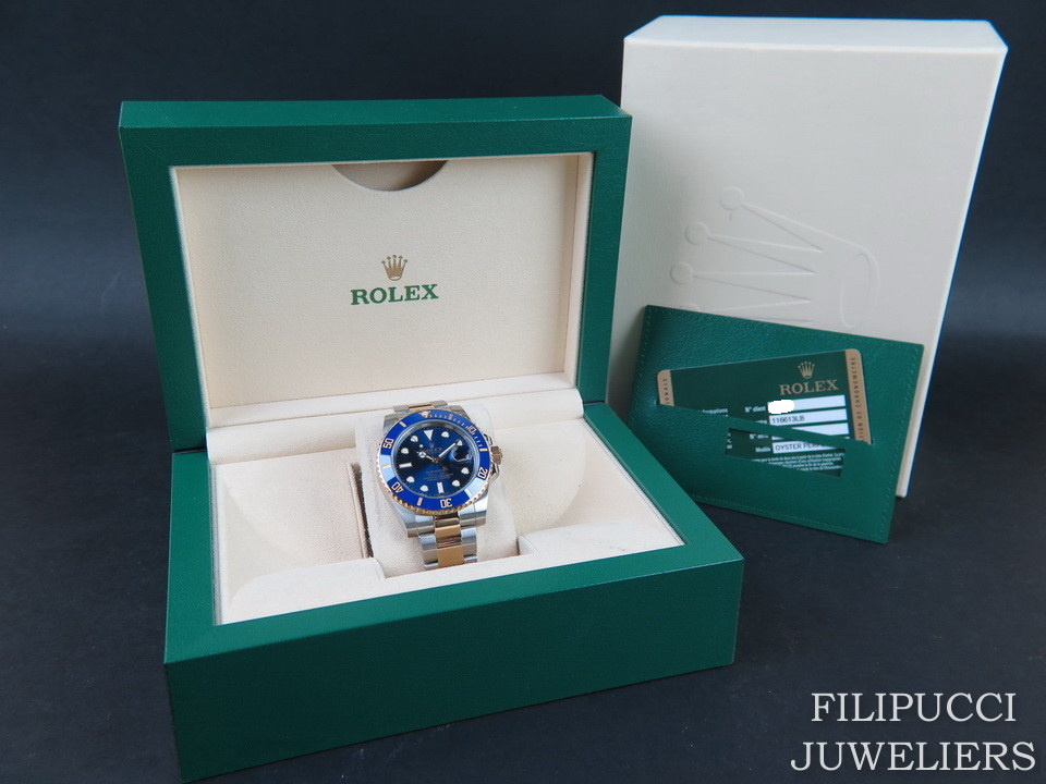 Rolex   Rolex Submariner Date Gold/Steel  Blue Dial 116613LB