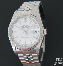 Rolex  Datejust White Dial 16220