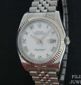 Rolex  Datejust White Roman 116234