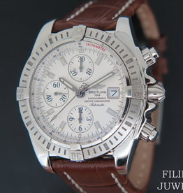 Breitling Chronomat Evolution A13356 Silver Dial