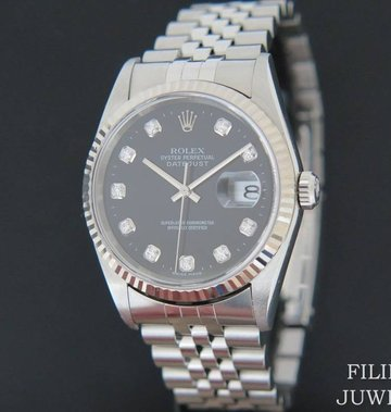 Rolex  Datejust Black Diamond Dial 16234