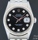 Rolex  Rolex Datejust Black Diamond Dial 16234