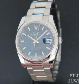 Rolex  Date Blue Dial 115200