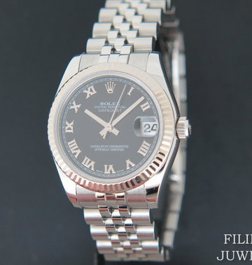 Rolex  Datejust Black Roman Dial 178274