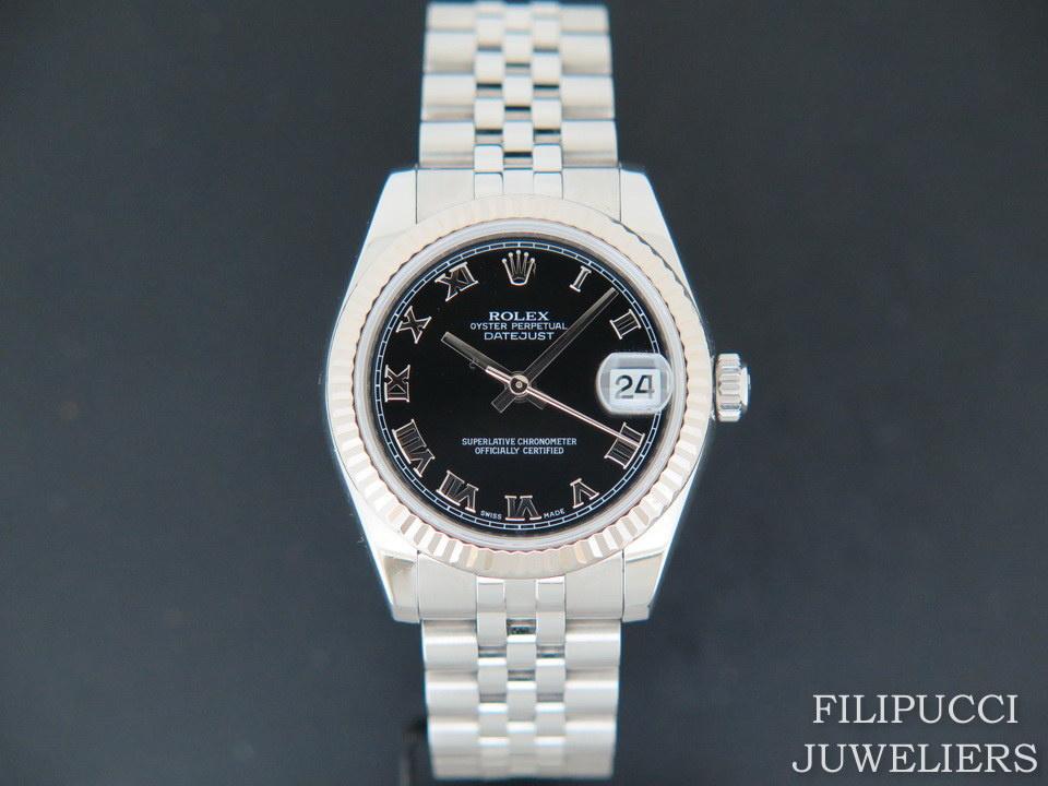 Rolex  Rolex Datejust Black Roman Dial 178274