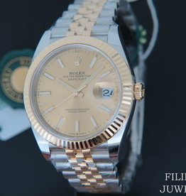 Rolex  Datejust 41 Gold/Steel Champagne Dial 126333 NEW 2020