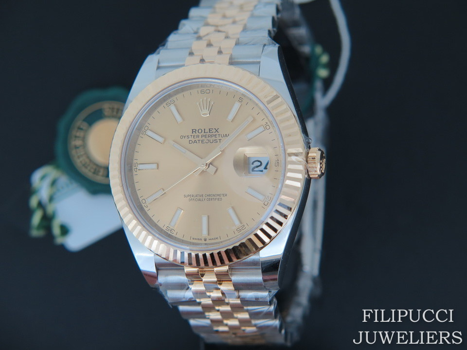 Rolex  Rolex Datejust 41 Gold/Steel Champagne Dial 126333 NEW 2020