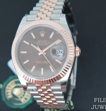 Rolex  Datejust 41 Everosegold/Steel 126331 Choco Dial NEW 2020