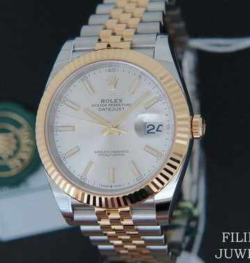 Rolex  Datejust 41 Gold/Steel NEW 126333 Silver Dial 2020