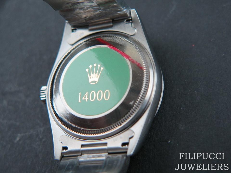 Rolex  Rolex Air-King Blue 3/6/9 Dial 14000 NEW