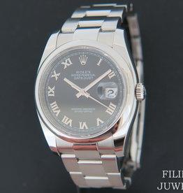 Rolex  Datejust 116200 Black Roman Dial