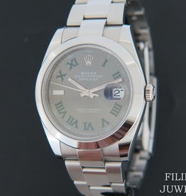 Rolex  Datejust 41 Slate Roman Dial 126300 NEW Partly Stickers