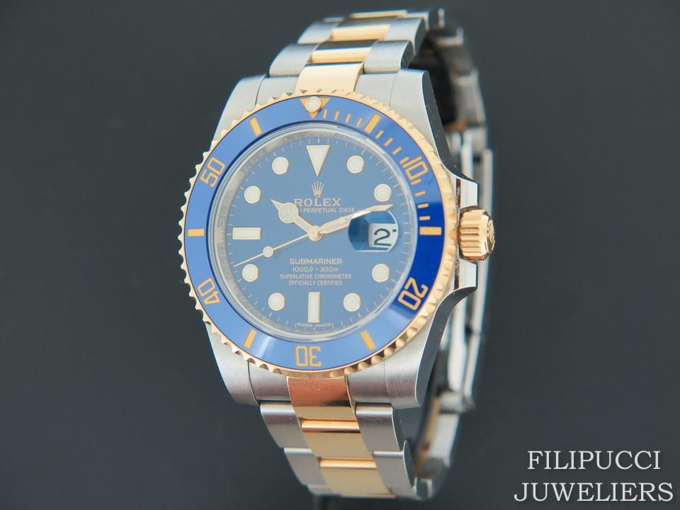 Rolex   Rolex Submariner Date Gold/Steel  Blue  Dial 116613LB