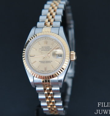 Rolex  Datejust Lady Gold/Steel Champagne Dial 69173