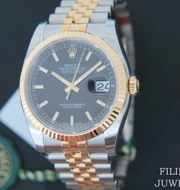 "Rolex  Datejust Gold/Steel Black Dial NEW 116233 FULL STICKERS 2020 ""Kingdom of Bahrain"""