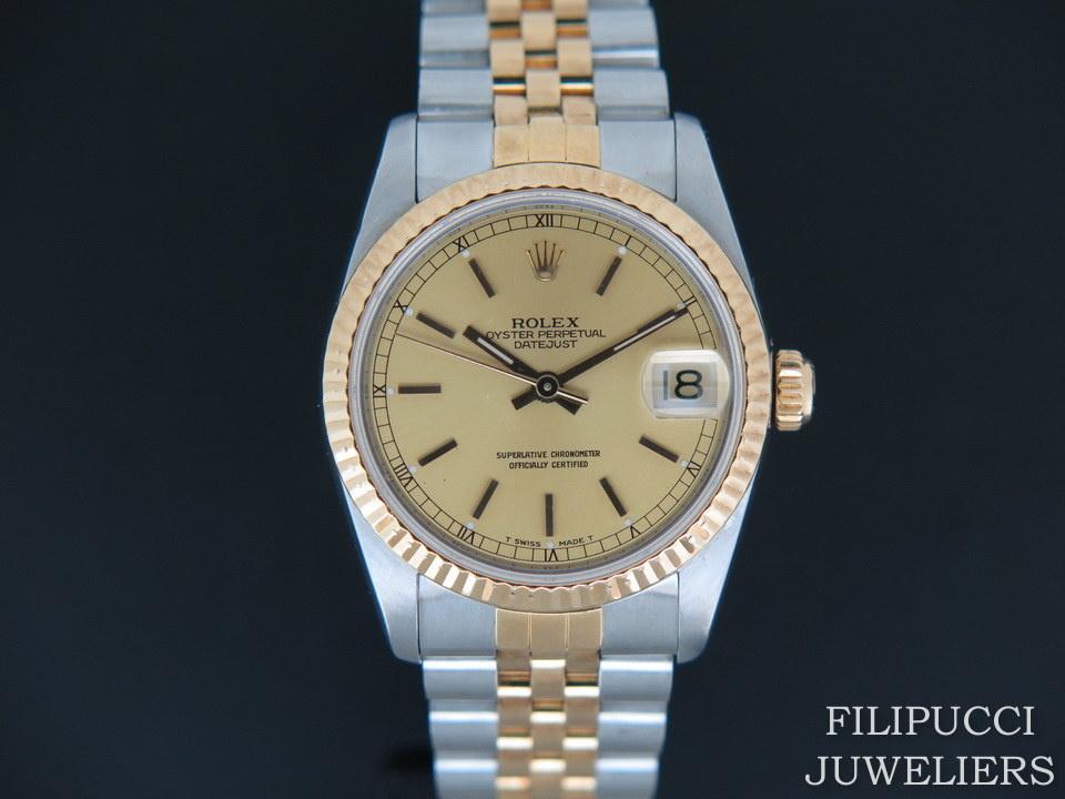 Rolex  Rolex Datejust Midsize Champagne Dial 68273