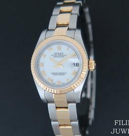 Rolex  Datejust Gold/Steel White 179173