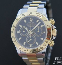 Rolex  Daytona Gold / Steel  Black Dial 116523